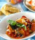 「トロトロ卵入り夏野菜のトマト煮」の献立