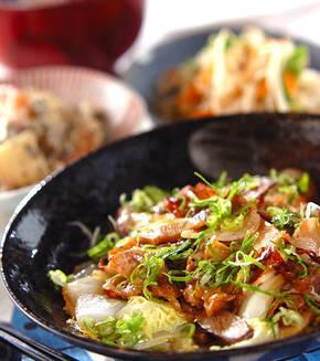 豚肉と白菜の炒め蒸しの献立