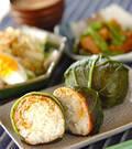 「豚肉と野沢菜の巻きにぎり」の献立