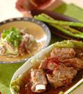 「豚骨付きバラ肉の豆鼓蒸し」の献立