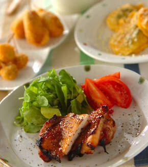 鶏肉のハニーペッパー焼きの献立