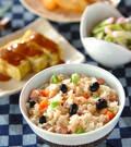 「黒豆入り炊き込みご飯」の献立