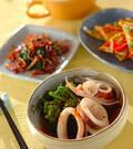 「イカと菜の花の煮物」の献立