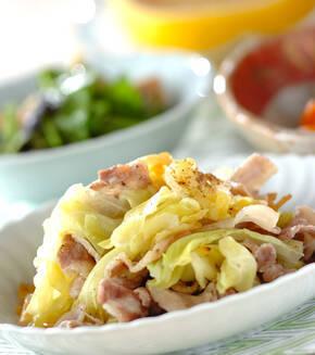 豚バラ肉と春キャベツの塩蒸しの献立