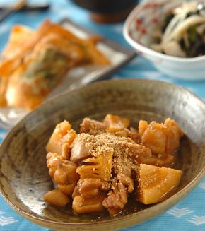 鶏肉とタケノコのみそ煮の献立