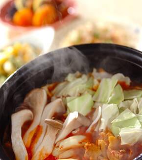 トマトカレー鍋の献立