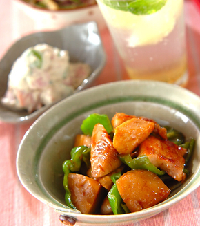 豚とタケノコの甘辛煮の献立