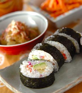 アボカド手巻き寿司の献立
