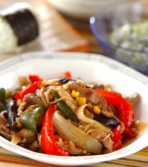 牛肉と野菜のオイスター炒めの献立