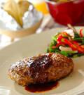 「シンプルハンバーグ野菜炒め添え」の献立