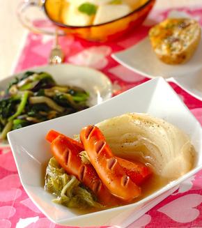 トロトロ白菜の煮物の献立