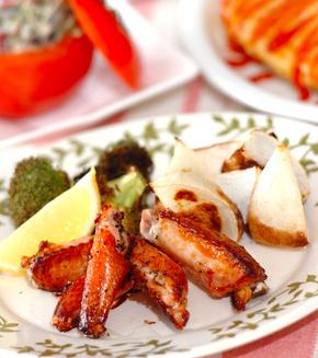 鶏とカブのシンプルオーブン焼きの献立