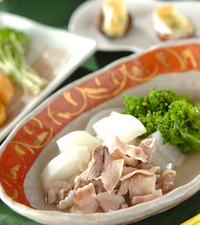 豚バラ肉と大根の塩煮の献立