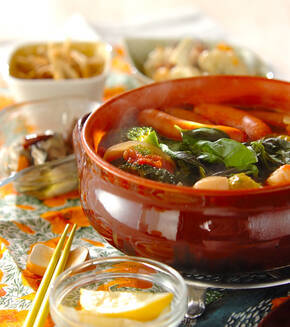 たっぷり野菜のイタリアントマト鍋の献立