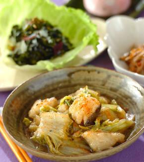 タラと白菜のおろし煮の献立