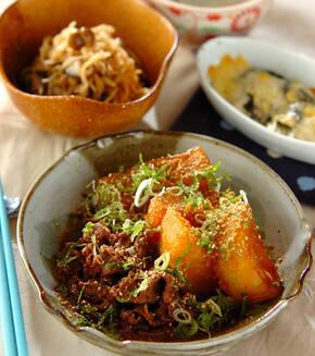 大根と牛肉の韓国すき煮の献立
