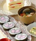 「ハートの巻き寿司」の献立