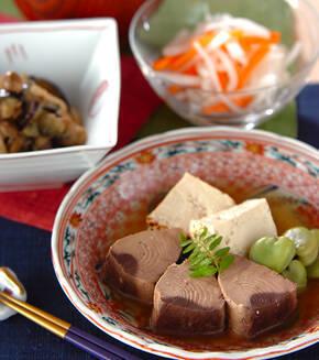 なまり節と豆腐の炊き合わせの献立