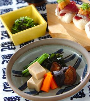 高野豆腐の含め煮の献立
