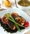 「米ナスと鮭のソテー」の献立
