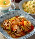 「豚キム肉豆腐」の献立