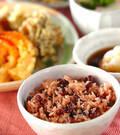 「炊飯器で赤飯」の献立