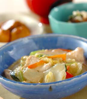 白菜のクリーム煮の献立