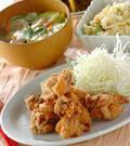 「シンプル鶏の唐揚げ」の献立