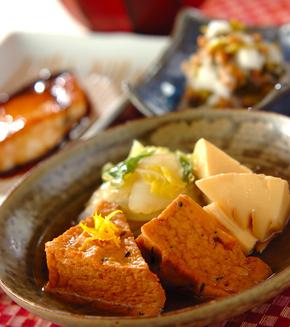 白菜とがんもどきの煮物の献立