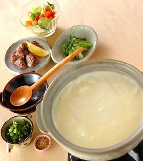 豆乳湯豆腐の献立