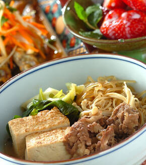 肉豆腐•京風の献立
