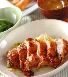鶏肉のケチャップ煮の献立