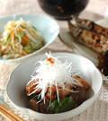 「鶏肉と板コンの炒め煮」の献立