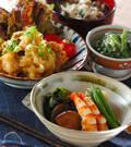 「高野豆腐とエビの煮物」の献立