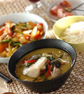 「素麺添えタイカレー」の献立