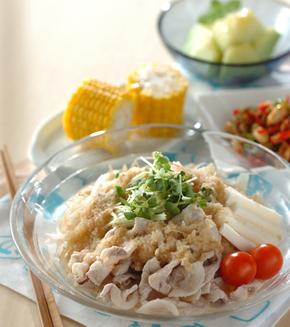 サッパリ豚シャブ麺の献立