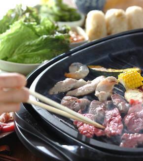 サルサソースの焼き肉の献立
