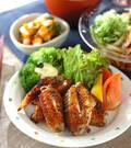 「鶏手羽の黒コショウ焼き」の献立