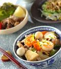 「豚肉とエビの中華丼」の献立