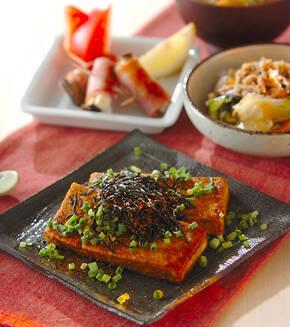 豆腐のステーキ・カレー風味の献立
