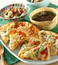 「ピザ2種」の献立