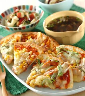 ピザ2種の献立