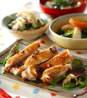 鶏肉の山椒風焼きの献立