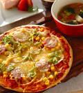 「お手軽ピザ」の献立