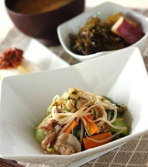 豚肉とたっぷり野菜の炒め物の献立