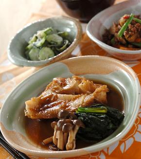 赤魚と小松菜の煮付けの献立