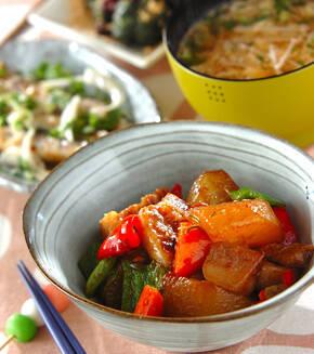 大根と豚肉の中華煮の献立