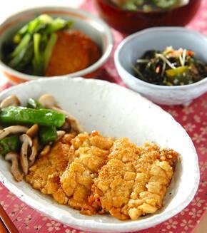 豆腐のウナギ蒲焼き風の献立