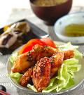 「骨付き鶏肉の味から揚げ」の献立