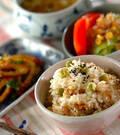 「ホタテ入り豆ご飯」の献立